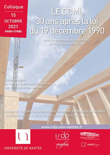 Affiche Colloque CCMI 30 ans